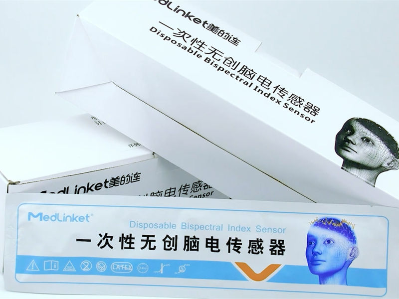 Disposable non-invasive EEG sensor, supplied by the manufacturer