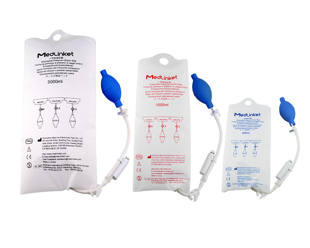 Why use disposable infusion pressurized bags for clinical emergency treatment?