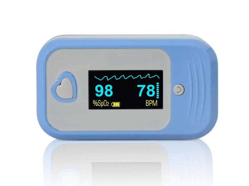 Medlinket's temp-pulse oximeter realizes five major health detection functions