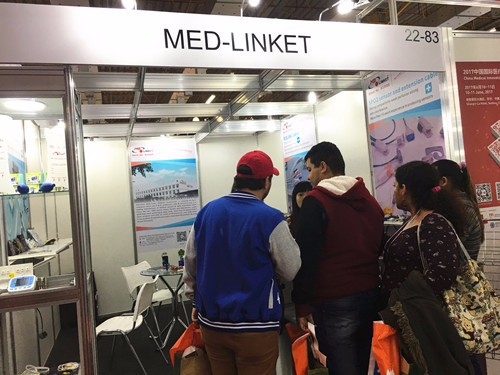 Med-linket Appeared On 2017 Brazil Medical Exhibition, Hylink Series SpO2 Temperature Probe Attracted Much Attention