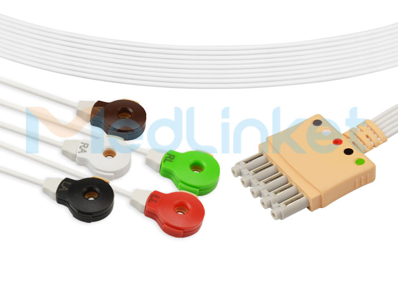Compatible Philips  Disposable ECG Lead wires (989803173131) Featured Image