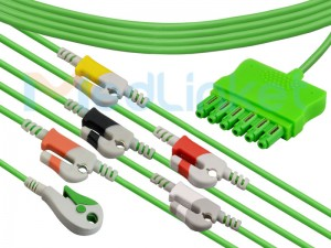 One-line series ECG lead wires ( ms14582)