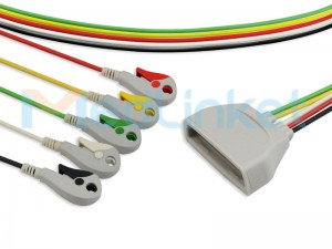 Philips MX40 Compatible ECG Telemetry Leadwires (9803171831)