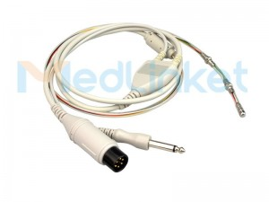 Veterinary electrocardio temperature probes