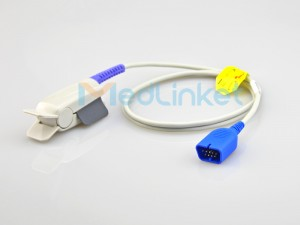 Medlinket NIHON KOHDEN Compatible Short SpO2 Sensor