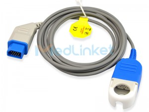 Medlinket NihonKonden Compatible SpO2 Extension Adapter Cable