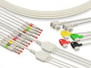 Einteiliges EKG-Kabel der Serie mit Kabeln