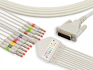 One-Piece-Serie EKG-Kabel mit Lead Wires