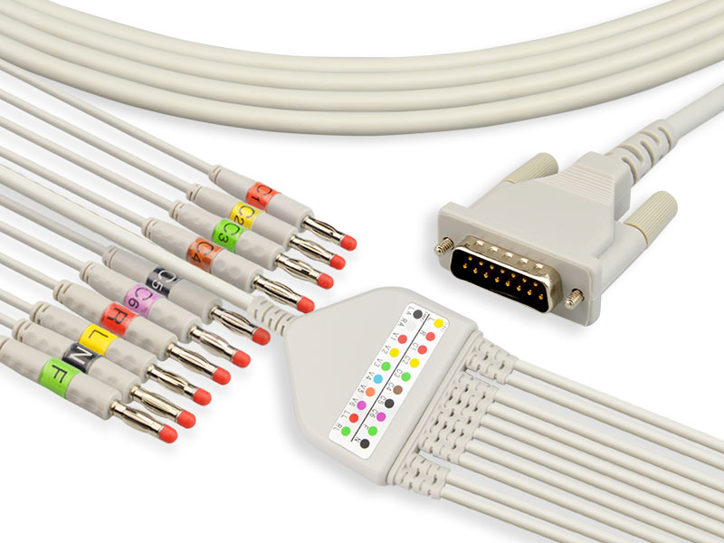 One-Piece Series EKG Cable With Lead Wires Featured Image