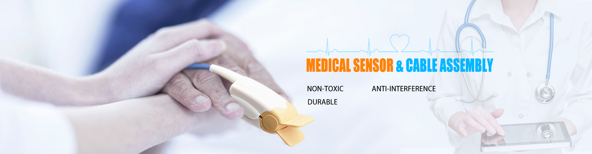 Medical sensor & cable assembly